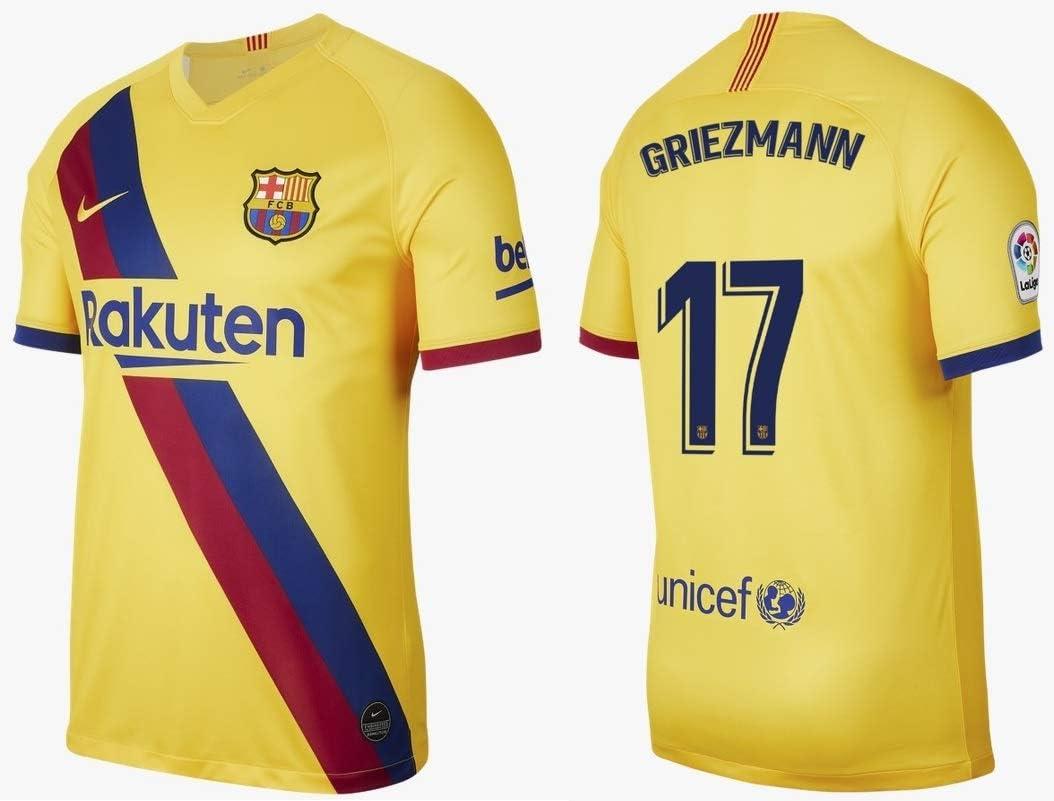 f c barcelona men s jersey 2019 2020 away la liga griezmann 17 m amazon co uk sports outdoors f c barcelona men s jersey 2019 2020