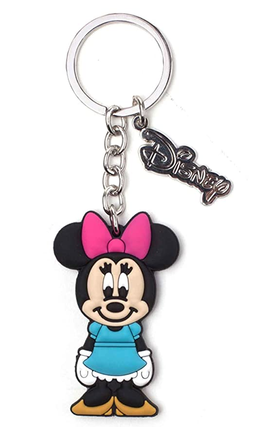 Bioworld Disney Minnie Mouse Rubber Keychain Llavero 16 ...