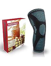 Vigo Sports Antislip-kniebrace voor sport en fitness, ademende kniebrace voor meniscus en gewrichtspijn, kniebeschermers voor volleybal, hardlopen en joggen, kniebeschermers voor mannen en vrouwen