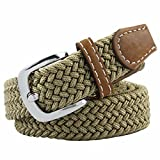 Moonsix Elastic Belts for Women,PU Leather Casual Braided 1