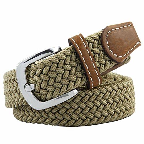 Moonsix Elastic Belts for Women,PU Leather Casual Braided 1