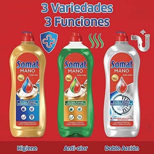 Somat Lavavajillas Mano Poder Verde – Pack de 4, Total 3.8 L ...