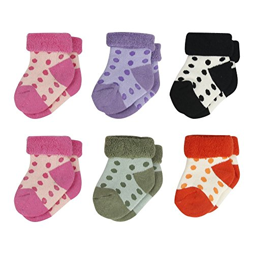 Christmas Soft Stocking (Comifun Baby Infant Toddler Boys Girls Thick Winter Warm Terry Heathered Colorful Polka Dots Winter Soft Christmas Socks,6-12 Months,6 Pairs)