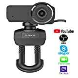 Ausdom HD Streaming Webcam, Widescreen Full HD 1080P Video Calling Recording Web Camera Built-in Noise Reduction Microphone, PC Laptop Camera Mixer OBS Twitch Skype Xsplit YouTube