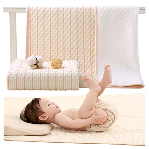 - Baby Diaper Changing Pad Portable Organic Cotton Waterproof Stripe Crib and Carriage Changing Diaper Liners for Boys and Girls (Multicolor, M)