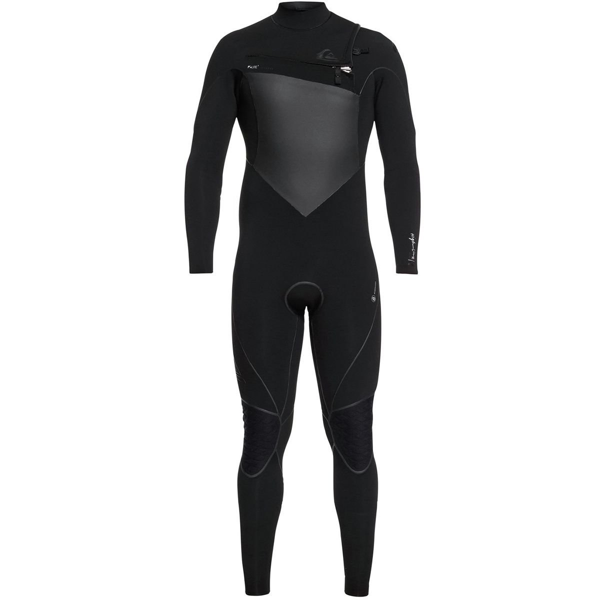 Quik銀 Mens 4/3 Highline+ Cz Hyd 黒 Full Wetsuit Size MT