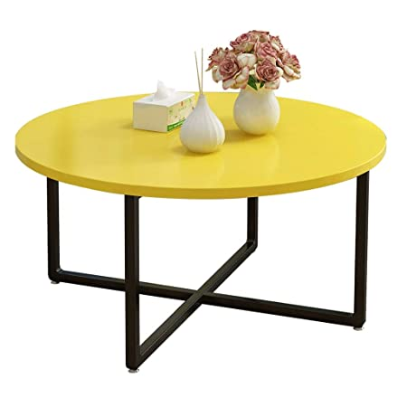 Soggiorno Moderno Con Tavolo In Legno.Tavolino Da Caffe Tavola Rotonda Mobili Da Salotto Moderno Con X