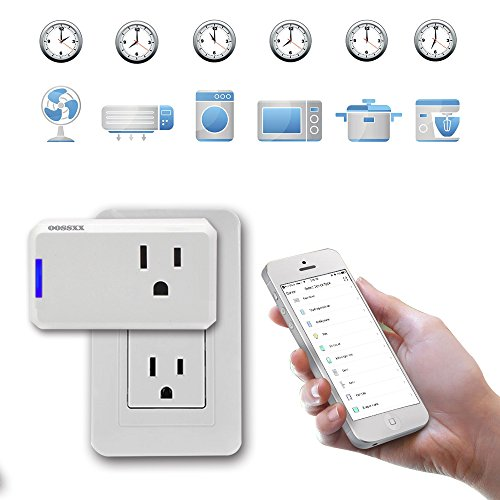 Superior Quality Mini Wifi-Enabled Smart Outlet By OOSSXX - No-Hub Wireless Plug - Compatible With Lights, Home Appliances - Remote Control With Smartphone/Tablet - Works W/Amazon Alexa by OOSSXX (Image #4)
