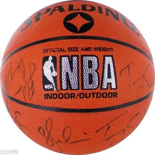 LA LAKERS TEAM SIGNED 1990-91 BASKETBALL MAGIC JOHNSON JAMES WORTHY GREEN SCOTT (Team Signed Collage)