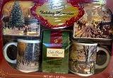 Thomas Kinkade Holiday Memories Coffee and Mug Christmas Gift Set