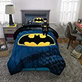 Franco Kids Bedding Super Soft Comforter with Sheets and Plush Cuddle Pillow Set, 5 Piece Twin Size, Batman