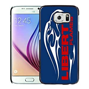 Popular Samsung Galaxy S6 Case, Beautiful Designed Case With NCAA Big South Conference Liberty Flames 2 Black Samsung Galaxy S6 Cover
