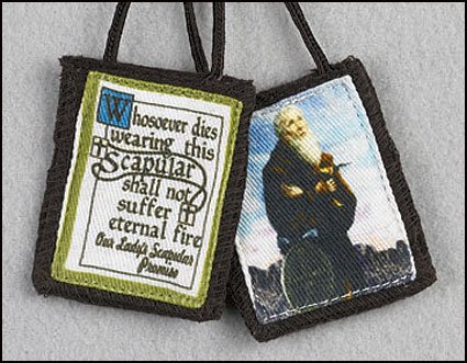 Blessed By Pope Benedit XVI St Benedict Brown Cord Cloth Scapular