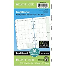 "Day-Timer Refill 2018, Two Page Per Month, January 2018 - December 2018, 3-3/4"" x 6-3/4"", Loose Leaf, Portable Size, Classic (87129-1801)"