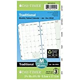 Day-Timer Refill 2018, Two Page Per Month, January 2018 - December 2018, 3-3/4'' x 6-3/4'', Loose Leaf, Portable Size, Classic (87129-1801)