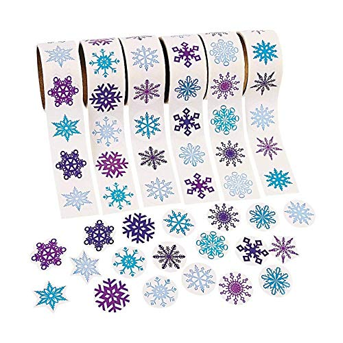 - Fun Express - 300 - Snowflake Stickers - 3 Assorted Rolls Scrapbook Crafts