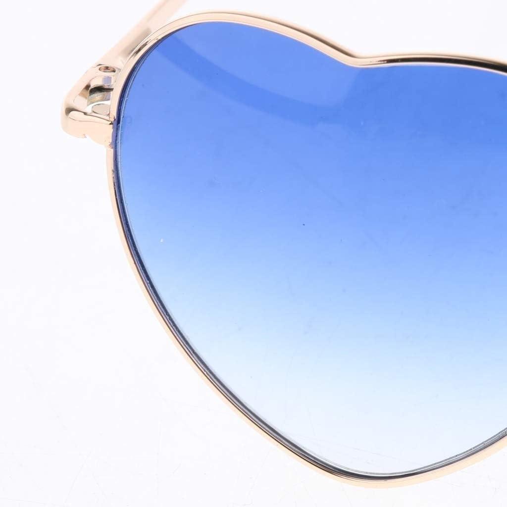 RMXMY Occhiali da Sole da Sole a Forma di Oceano, a Forma di Cuore, a Forma di Pesca, a Pendenza Trasparente Colore Oceano (Color : Blue) Blue