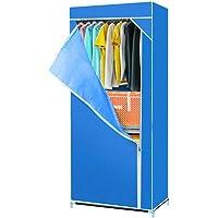 Bloodyrippa Portable Wardrobe Closet, Non-Woven Fabric Clothes Storage Organizer, Large/Medium/Small Size, Available in Wine Red/Purple/Blue/Coffee