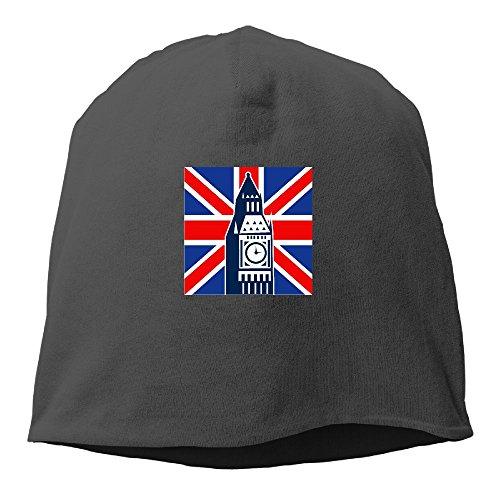 Unisex Adjustable Beanie Hat Slouchy Warm Hat For Big Ben Flag London - Plp Uk