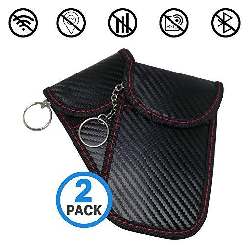 Faraday Case Bag for Key Fob | Car Key Signal Blocking Pouch Bag | Vehicle Keyless Entry RFID Blocking Bag for Car Keys and Credit Card Fob Guard/Anti Theft/WiFi NFC GSM LTE RF Block Faraday Case