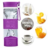 Self Stirring Mug, Automatic Self Mixing Cup, Cute, Colorful & Funny for tea, milk, cereal etc, Best for Morning, Travelling, Home, Office, Men and Women By Sportsvoutdoors (Purple)
