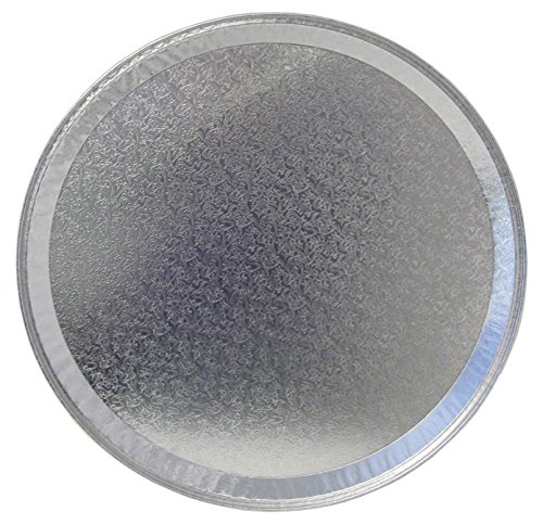 Durable Packaging 18FT-25 Disposable Aluminum Round Flat Serving Tray, 18