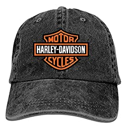Baseball Trucker Cap,Harley Davidson Motor Cycles Logo T Adjustable Youth Cowboy Mens Golf Caps Hats