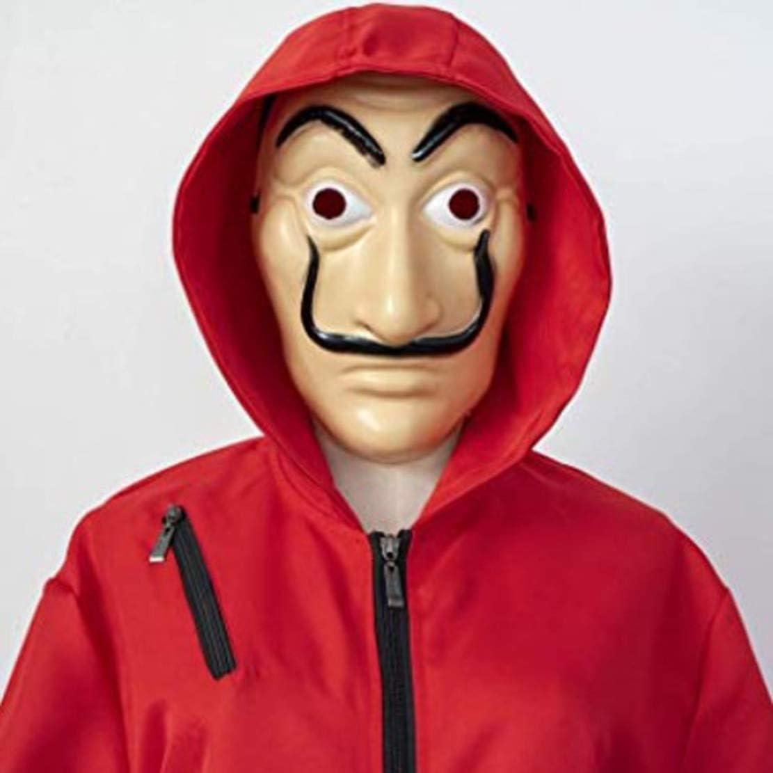Maschera Tuta Cosplay,Casa di Carta Costumi Tuta da Adulto per Bambini Tuta Rossa Tuta di Halloween