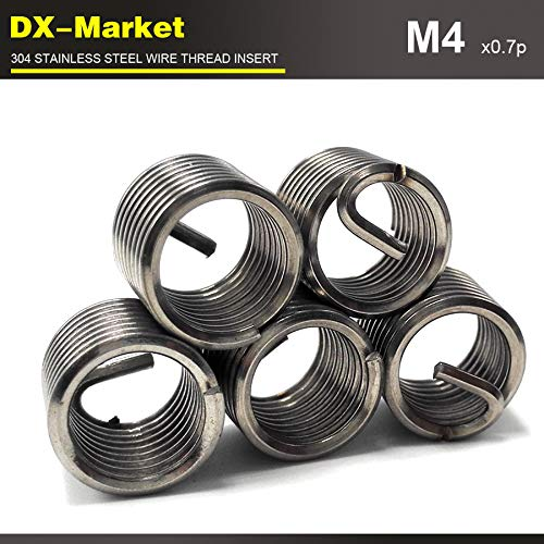 sus304 Stainless Steel Screw Insert 100pcs Chinese Fasteners auto car Tool Wire Thread Insert Ochoos m43D0.7P