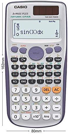 Casio FX-991ES PLUS - Calculadora científica (417 funciones, 15 + 10 + 2 dígitos, pantalla Natural), color gris