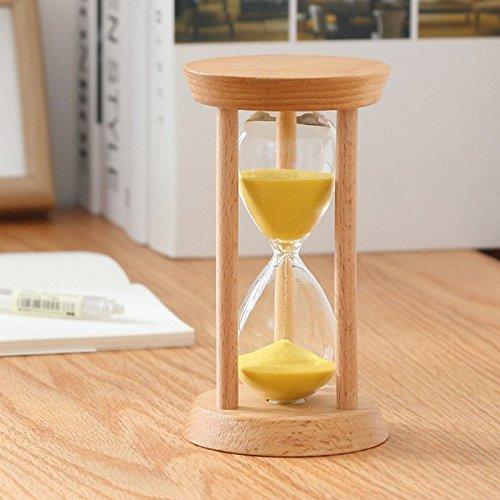 Tofree 10/15/30 Minutos Arena Cristal Reloj de Arena con Marco de Madera Arena Temporizador para cocinar, máscara, Yoga, Juguete, Limpieza de Dientes, ...