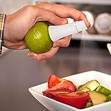 mazimark -- Blanco Jugo Exprimidor Limón Spray Frutos calcomanía pulverizador utensilios de cocina nueva