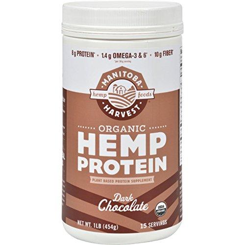 Manitoba Harvest Organic Hemp Protein Dark Chocolate - 16 oz (Pack of 4) by Manitoba Harvest