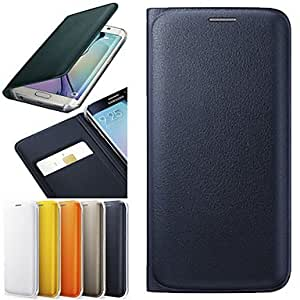 ZXC DF Luxury PU Leather Full Body Case for Samsung Galaxy S6 edge (Assorted Colors) , Yellow
