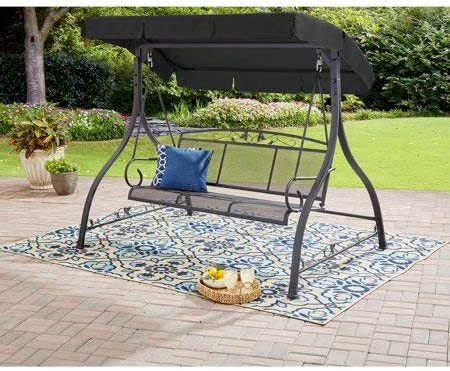 Mainstay Patio Porch Canopy Jefferson 3-Person Steel Swing