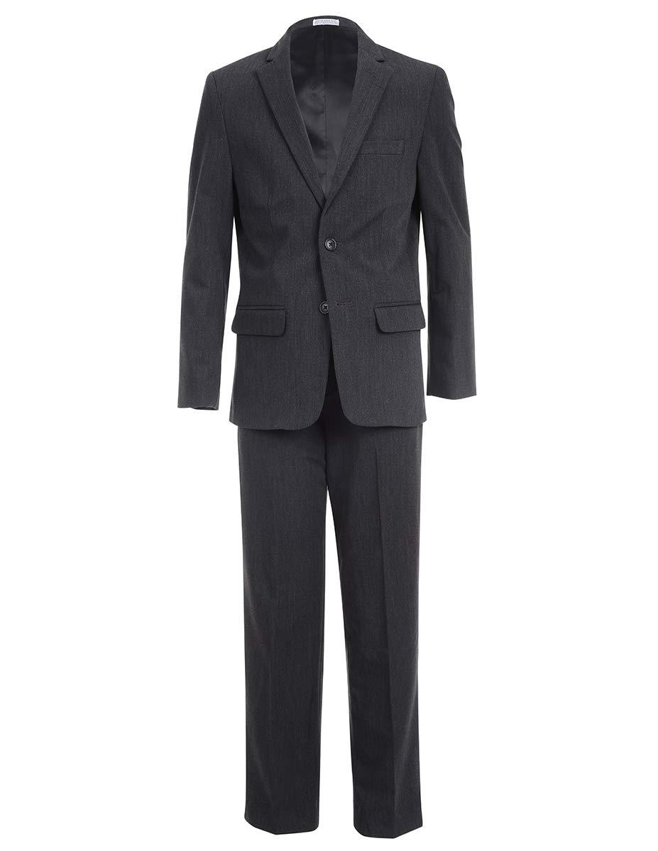 Calvin Klein Big Boys' 2-Piece Formal Suit Set, Modern Charcoal, 12