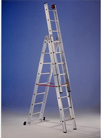 Svelt - Escalera Mixta Aluminio 3X7 Peldaños Hasta 4,90Mt E37 Svelt: Amazon.es: Bricolaje y herramientas