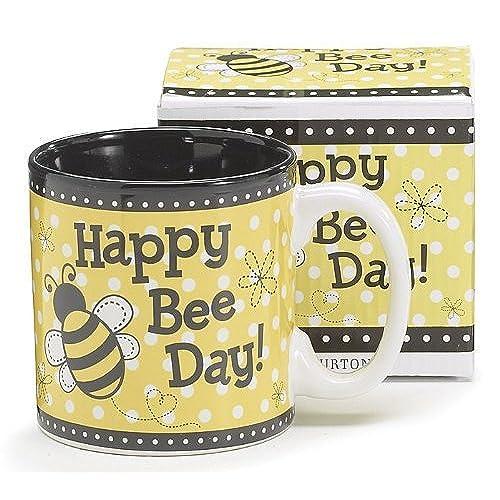 Happy Bee Day Honey Bumble Coffee Mug Adorable Gift