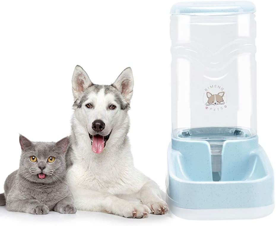 Dog Water Dispenser,Pet Automatic Waterer,3.8L Gravity Water Dispenser Station Self-Dispensing Drinking Fountain for Cats/Dogs Bowl