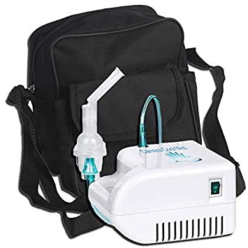 Portable Cool Mist System Machine Compact Air Compressor for Home Use Ideal for Kids Adults with 2 Masks