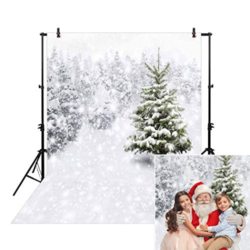 Allenjoy 5x7ft Christmas Xmas New Year Photography Photo Backdrop Background Snow Trees Holiday Party Winter Forest Snowflake Pine Snowy -
