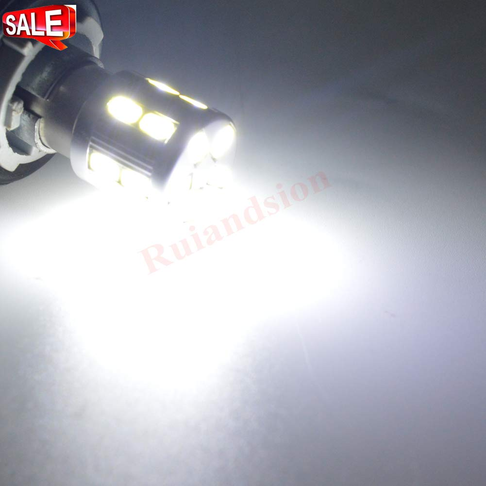 Ruiandsion 2PCS Super Bright Low Power 1157 2057 2357 7528 BAY15D LED Bulbs for Back Up Reverse Lights or Tail Brake Lights Fits Negative Earth//Positive Earth AC//DC 12V 24V 1157 24V AC 1157-5630-17-W 12-24V