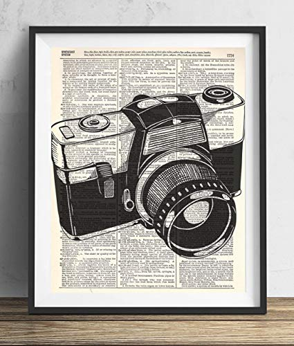- Vintage Camera (#4) Upcycled Dictionary Art Print 8x10