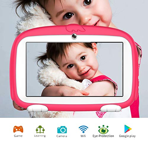 Kids Tablet ,7 inch Tablet for kids Tablet with WiFi Parental Control Kids Mode Pre-Installed Games Education Learning Camera Tablet for Child 1G/8G Android 6.0 Tablet Safety Eye Protection Screen