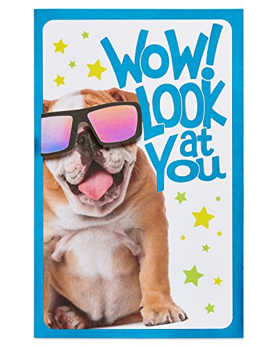 American Greetings Bulldog Junior High Graduation Greeting Card with Foil