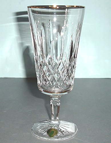 - Waterford Crystal Lismore Tall Gold Iced Beverage Glass New In Box