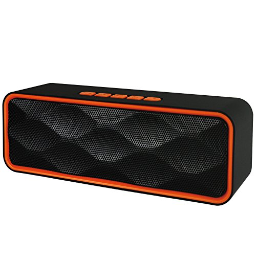 Enhanced Audio (Wireless Speaker,Bluetooth Speaker, iGearPro Portable Outdoor Stereo Wireless Bluetooth Speaker with HD Audio and Enhance Bass, Dual Driver Speakerphone, Handsfree Calling (Orange))