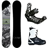 Camp Seven Valdez Snowboard APX Bindings & APX Boots Men's Complete Snowboard Package