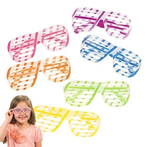Fun Express Glow in The Dark Shutter Shading Glasses (1 dz)