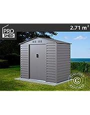 Dancover Caseta de Jardin 2,13x1,27x1,90m ProShed, Aluminio Gris